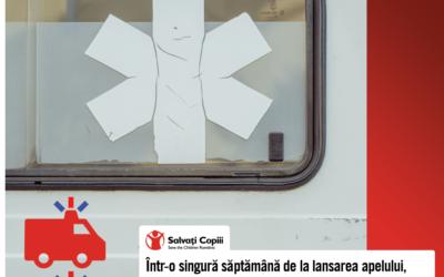"""Două ambulanţe pentru uz pediatric vor ajunge la Spitalul """"Grigore Alexandrescu"""""""