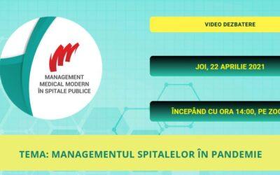 """Comunitatea OSC – SpitalePublice: Pe 22 aprilie va avea loc webinarul """"Managementul Spitalelor în Pandemie"""""""