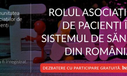 Comunitatea CASPA.RO: Miercuri 30 iunie, de la 14.00 discutăm despre rolul asociațiilor de pacienți în sistemul de sănătate