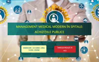 Comunitatea OSC – Spitale Publice discută pe 23 iunie despre o temă extrem de actuală: achizițiile de medicamente