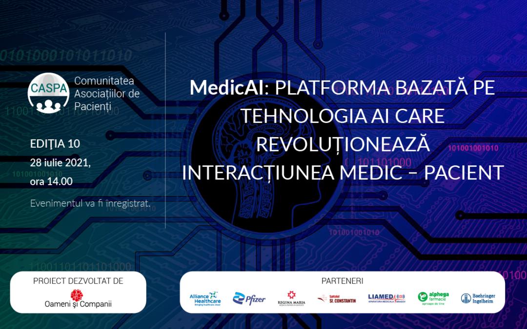 Comunitatea CASPA.RO: Fluxurile digitale pot fi soluția degrevării sistemului medical românesc