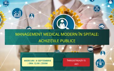 Comunitatea OSC – Spitale Publice: Bune practici și recomandări în domeniul achizițiilor de medicamente de la Amalia Duță, expert în achiziții publice