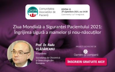 Prof. Dr. Radu Vlădăreanu vorbește despre siguranța nașterilor și a mamelor la întâlnirea Comunității CASPA.ro din 29 septembrie
