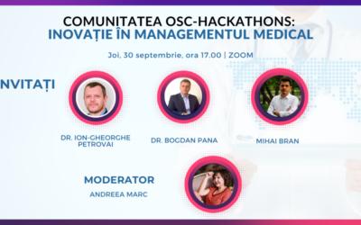 Prevenția și telemedicina vor fi principalele subiecte de discuție la întâlnirea comunității OSC-Hackathons